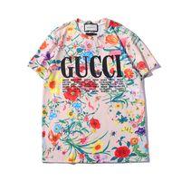 schwarze kurzarm-taille großhandel-2019 heißer verkauf t shirts druckmuster frauen kurzarm t-shirt frauen tops streetwear mode flut