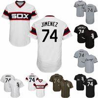 nakliyeci toptan satış-Mens # 74 Eloy Jimenez Forması Chicago Eloy Jimenez Best Seller Beyaz Sox 100% Dikişli Beyzbol Formalar Ücretsiz Kargo