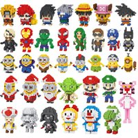 typen spinnen großhandel-100 Arten Mini Super Hero Figuren DC Avengers 4 Marvel 3 Pikachu Endgame Brick Heads Iron Man Spider Man Building Blocks Spielzeug