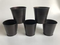 mini-vasos de flores de lata venda por atacado-Potenciômetros de flor do Vintage Nostalgia Mini ferro Coffee Tin box Suculentas Plantador Mini Ferro Bacia SF-056