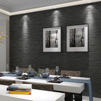 3d wallpapers alfandegários venda por atacado-3D Não Tecido Eco-Friendly Papel De Parede Moderno Minimalista Cinza Escuro Imitação De Papel De Parede De Palha Sala de Estudo Escritório 3D Decoração Da Sua Casa