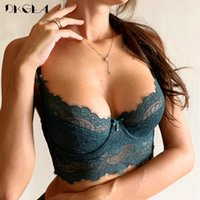Wholesale lace eyelashes for sale - Group buy Fashion Sexy Underwear Ultrathin Bra Plus Size Brassiere Green Women Lingerie Lace Eyelash Transparent Bras Embroidery