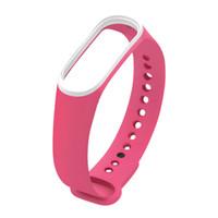 xiaomi smart band оптовых-Mi band 3 Браслет силиконовый ремешок замена браслет для xiaomi mi band 3 двойной цвет mi3 чехол смарт-ремни для xiaomi