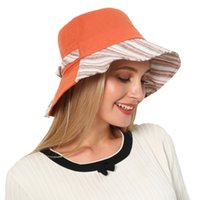 гладкие луки оптовых-Women Summer Bow Wide Brim Floppy Foldable Beach Hat Chapeau Female Girl Plain Anti-UV Sun Visor Floppy Fisherman Sport hat#4