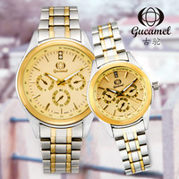 Wholesale korean fashion imports resale online - Gu tuo Genuine Hot Couple Matching Watch Korean Style Fashion Steel Imported Quartz Waterproof Mens And Womens Watch