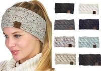 ingrosso fasce di pace-moda Hairbands CC croce maglieria signore accessori per capelli fibra di lana acrilica fascia intrecciata fascia testa calda copricapo