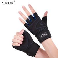 Wholesale fitness bars exercises resale online - SKDK Gym Fitness Male Half Finger Female Exercise Dumbbell Horizontal Bar Training Protective Wrist Non Slip Breathable Gloves