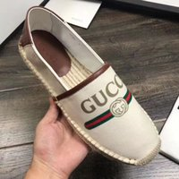 Wholesale ladies size 35 casual shoes for sale - Group buy Gucci casual shoes women fisherman s shoes ladies Espadrilles lady Europe style flat woman straw bottom shoe size Free ship