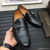 altın balo ayakkabı boyutu toptan satış-20FW Lüks Altın Ekose Erkek Ayakkabı Plus Size Gerçek Deri Düğün Balo Erkekler Elbise Ayakkabı İtalyan İş Formal Ayakkabı YECQ1