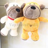 ingrosso divertenti animali farciti-Bulldog Animali Giocattoli farciti UK / US / FR Bulldog giocattoli di peluche 18CM 2 Modelli Kids Best Funny Toy lol