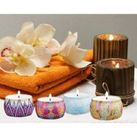 Wholesale 4pcs Set National Style Scented Candles Natural Soy Wax Portable Travel Tin Candle for Aromatherapy Wedding Yoga Party Home Decor