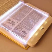 luz de noche led plana al por mayor-Luz LED de libro Batería AAA Uso fácil Luz LED de libro 2.5 mm de espesor Panel plano Lámpara de lectura nocturna Ajuste luz portátil de lectura de libros