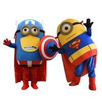 trajes de anime personalizados venda por atacado-Novos serviçais capitão superman costume mascote traje de festa de aniversário de anime Costumes de Natal Halloween