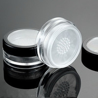 Wholesale clear jars containers powder sifter online - 100pcs g Empty Makeup Jar Container Powdery Cake Box Clear Plastic Loose Powder Jar Cosmetic Packing Jar With Sifter