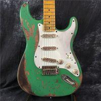 Wholesale st custom shop guitar resale online - High quality custom shop handmade classic electric guitar handmade St guitar