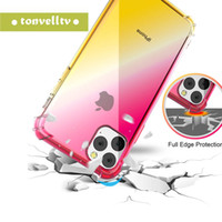 Wholesale iphone sheath online – custom Rainbow Silicone Case Ultra transparent soft TPU protective sheath for the color case of the iPhone X XS MAX XR Plus S