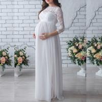 ingrosso le madri vestono in gravidanza-2019 incinta madre abito nuovo maternità fotografia puntelli donne gravidanza abiti pizzo abito per foto incinta sparare abbigliamento