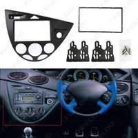 guarnição do foco do ford venda por atacado-Carro preto 2DIN Stereo painel de bordo Radio Montagem traço guarnição Kit Para Ford Focus 98 ~ 04 (RHD) / Fiesta 95 ~ 01 (RHD) # 2219