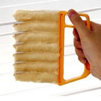 pinsel saubere fenster groihandel-Blind Reiniger Nützliche Mikrofaser Fensterreinigungsbürste Klimaanlage Duster Mini Shutter Reiniger waschbar Reinigungstuch Pinsel