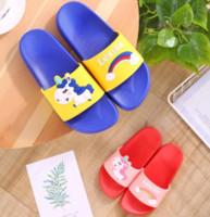 Kid Designer Flip Flop Luxury Slipper Rainbow Unicorn Parenting Slippers Cartoon Pony Childrens Slippers Top Quality Slipper EUR 24-41
