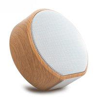spielkarten im freien großhandel-A60 Bluetooth-Lautsprecher Outdoor Holzlautsprecher Tragbarer drahtloser Subwoofer MP3-Player FM-Radio Audio-TF-Karte USB-Wiedergabe Freisprechen