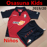 spanien jugendfußball jersey großhandel-Spanien Club Atlético Osasuna Kids Kit Fußball-Trikot 2019/20 Heim Kind-Jugend-Fußball Uniform-Kleidung Set Niño Camiseta de la Equipación 1920