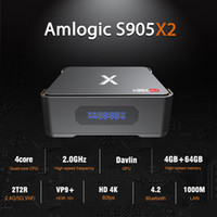 Wholesale hard drive boxes resale online - Video Recording Android TV box GB GB Amlogic S905X2 Quad Core Smart Mini PC Supports Install Hard Drive Dual Band Wifi Bluetooth G32G