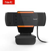 webcam hd de china al por mayor-HAVIT USB Webcam Negro Cámara web HD PC Cámara para computadora Laptop TV de escritorio Webcam HV-N5086