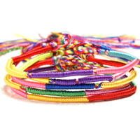Wholesale braided diy rope for sale - Group buy 5pcs Bracelets Girls Bangles Jewelry Gift DIY Charm Rope Bracelet Rainbow Braid Strands Friendship Cord Handmade Bracelet