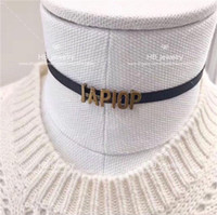 Wholesale designs for letter for sale - Group buy Fashion Have stamps High version letter necklace choker bijoux for lady Design Womens Party Wedding Lovers gift jewelry for Bride with box