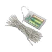 batería de navidad led al por mayor-20leds 40leds 50leds cuerdas LED Luces de hadas Funciona con batería Blanco / cálido Blanco / Azul / Amarillo / Verde / Púrpura Luces de decoración de Navidad
