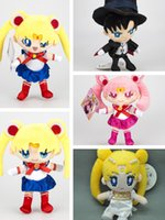 Wholesale serenity gifts resale online - EMS Sailor Moon Sailor Chibiusa Chiba Mamoru Princess Serenity CM Plush Doll Best Gift Soft Pendant Stuffed Toy