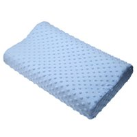 Wholesale latex bedding resale online - Memory foam pillow care new colors Orthopedic Latex Neck Pillow Fiber Slow Rebound Memory Foam Cervical Therapy