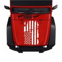 ingrosso parola auto di jdm-1PC Cracked Flag Totem Cover Car Sticker Burst Bandiera Hood Autos Tirare Decalcomanie Fiore