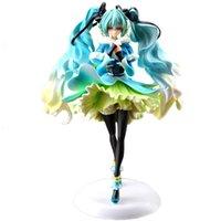 vokaloid aksiyon figürleri toptan satış-Vocaloid Kar-in-yaz Miku Japon Anime Rakamlar Eylem Oyuncak Rakamlar Pvc Modeli Koleksiyonu Kızlar Çocuklar Lover Için Çocuk hediye