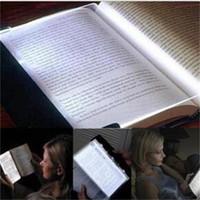 leia a noite do livro venda por atacado-Criativo LEVOU Livro Luz de Leitura de Luz Noturna Placa Plana Carro Portátil Painel de Viagem Levou Lâmpada de Mesa para Casa Interior Crianças quarto