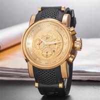 relógios de pulso venda por atacado-Venda quente Qualidade Longo Totem Diamante À Prova D 'Água Casual Relógio de Quartzo Dos Homens de Silicone INVICTA Frete Grátis DZ