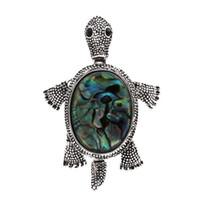 camisas de cuello tortuga al por mayor-Tortuga Linda Tortuga Broches Prendedores para Mujeres Broche de Cuello de la camisa Collar Vintage Pins Fiesta Banquete
