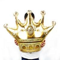 doğum günü partisi dekorasyonu prens toptan satış-Büyük 39 inç Altın Taç Folyo Balonlar Prens Prenses Bebek Duş 31 20 1st Doğum Günü coroa Parti Süslemeleri yetişkin globos