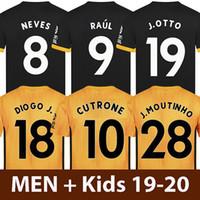 camisetas de fútbol de poliéster al por mayor-19 20 Wolves camiseta de fútbol 2019 2020 Wolverhampton Wolverhampton Wanderers camiseta de fútbol CUTRONE VALLEJO RAÚL NEVES ADAMA MOUTINHO COADY