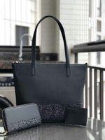 ingrosso borsa borsa set-Borsa di scintillio della borsa del progettista di marca delle donne più grandi ha messo i sacchetti di acquisto della borsa a tracolla della spalla lucida della rappezzatura borse della borsa delle donne dell'unità di elaborazione