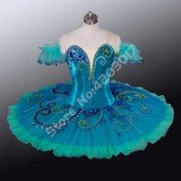 kostüme grüne tutus großhandel-Erwachsene Kinder Ballettberufs Tutus grüne Fee Peformance Bühne Pancake Tutus Mädchen Tanz Kostüme Tanzkleidung Frauen B1156