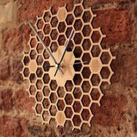 Wholesale antique bamboo art for sale - Group buy Creative Bamboo Wall Clock Simple Modern Design Honeycomb Natural Wooden Wall Clock Hexagon Wall Art Clock Home Decor Silent quot