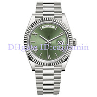 Wholesale round number for sale - Group buy 2019 Top Mens Watches MM Green Rome Number Face Big Date Automatic Mechanics Watch Men Sapphire Glass Stainless Steel Wristwatches