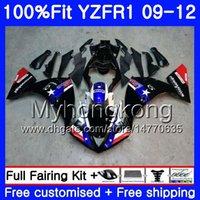 moldura para yamaha r1 venda por atacado-Injeção preto hot frame Para YAMAHA YZF 1000 R 1 YZF-1000 YZFR1 09 10 11 12 241HM.7 YZF R1 YZF1000 YZF-R1 2009 2010 2011 2012 Carenagem Kit