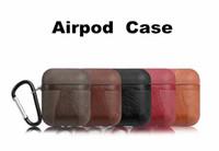 leder kopfhörer fällen großhandel-Für Airpod Cases TPU + PU-Leder-Kopfhörer mit Riemen