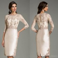 Wholesale evening wear mother bride for sale - Group buy Stunning Long Sleeve Formal Wear Mother of Bride Groom Gowns Vintage Applique Lace Evening Wear Dress