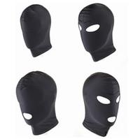 New Arrival Adult games Fetish Hood Mask BDSM Bondage Black Spandex Mask Sex Toys For Couples 4 Specifications To Choose C18112701