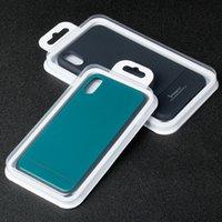 telefones grandes venda por atacado-Tamanho grande caixa de embalagem para iphone 8 plus xs max phone case pacote pvc de plástico transparente para iphone xs xr frete grátis