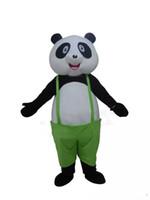 panda fantasia venda por atacado-2018 venda Quente de Fábrica Adulto Tamanho Panda Bonito Traje Da Mascote Kungfu Panda Costume de Natal Festa de Aniversário Fancy Dress Frete Grátis